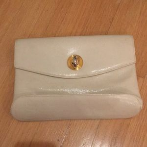 White Italian Rodo clutch